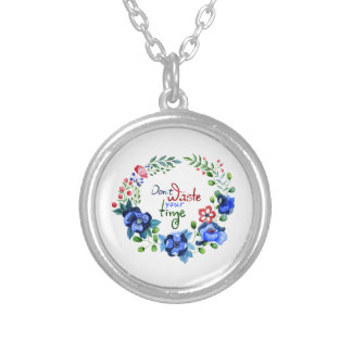 Don't waste your time silver plated necklace