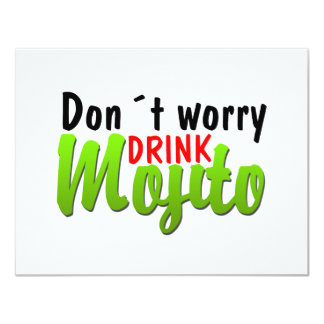 Dont Worry 4.25x5.5 Paper Invitation Card