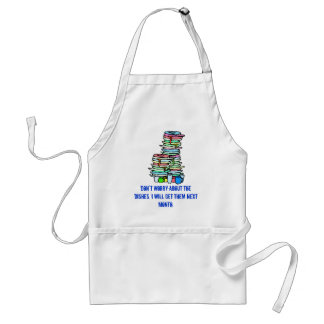 Don't worry about the dishes, adult apron
