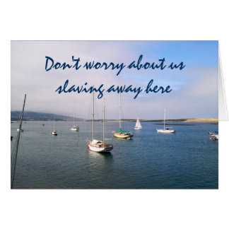 Don't Worry about Us Greeting Card