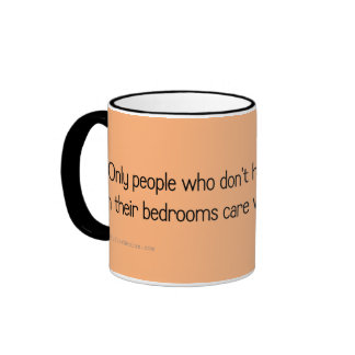 Don't worry about what goes on in my bedroom ringer coffee mug