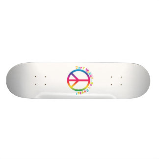 Don't Worry...Be a Hippie Skate Board Decks