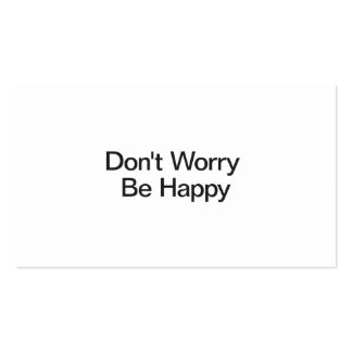 Don't Worry Be Happy Business Card Template