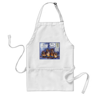 don't worry be happy humor adult apron