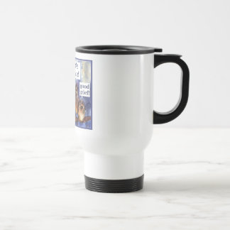 don't worry be happy humor travel mug