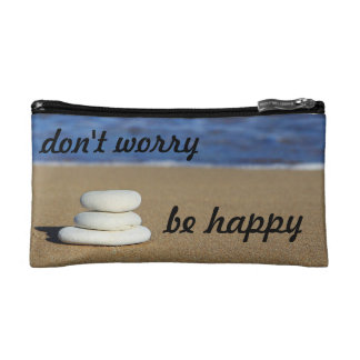 """Don't Worry be Happy"" Makeup Bag"