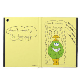 Don't Worry Be Happy Personalized Name Case iPad Air Cases