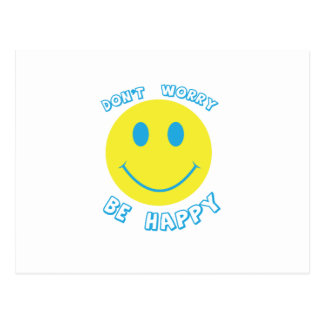Don't worry be happy postcard