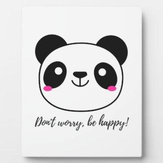 Don't Worry, Be Happy! Slogan Plaque