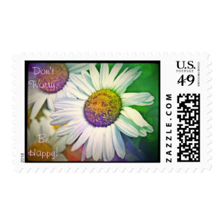 Don't Worry Be Happy - Smiley Face Daisy Stamps