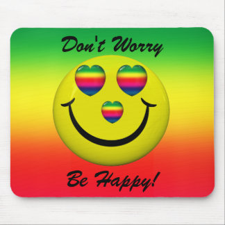 Don't Worry Be Happy! Smiley Face Mousepad Mouse Pad