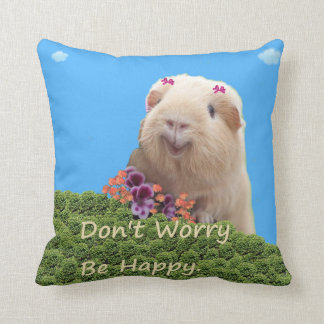 Dont Worry Be Happy. Throw Pillow