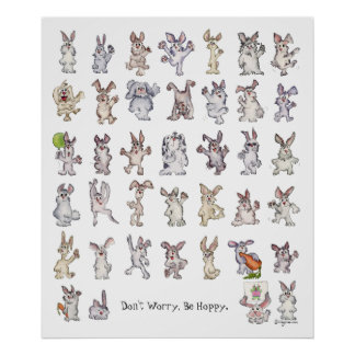 Don't Worry Be Hoppy Poster