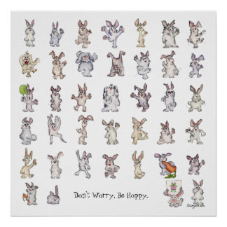 Don't Worry Be Hoppy Square Poster