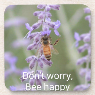 Don't Worry, Bee Happy Coaster