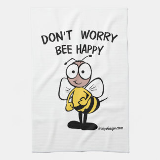 Don't Worry Bee Happy Hand Towels