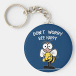Don't Worry Bee Happy Keychain