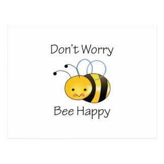 DONT WORRY BEE HAPPY POSTCARD