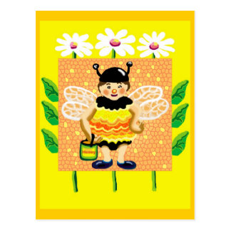 Don't worry, bee happy postcard