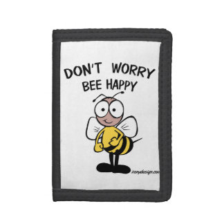 Don't Worry Bee Happy Tri-fold Wallet