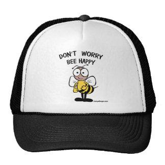 Don't Worry Bee Happy Trucker Hat