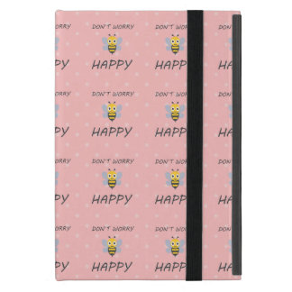 Don't worry bee happy with bee emoji cover for iPad mini