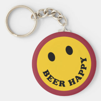 Don't Worry Beer Happy Keychain