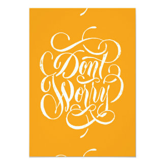 DONT WORRY CREAMISCLE ORANGE MOTTO ATTITUDE EXPRES CARD