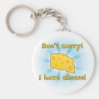 Don't Worry I have Cheese - Gradient Basic Round Button Keychain