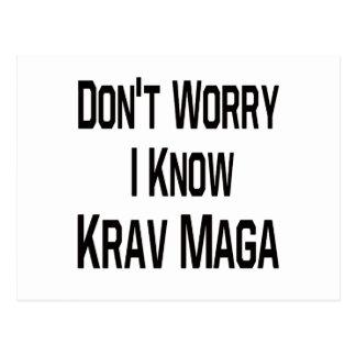 Don't Worry I Know Krav Maga. Postcard
