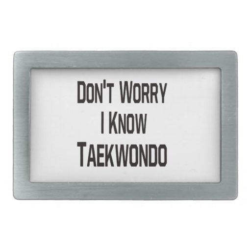 Don't worry i know Taekwondo. Belt Buckle