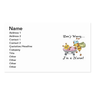 Don't Worry I'm a Nurse T-shirts and Gifts Double-Sided Standard Business Cards (Pack Of 100)