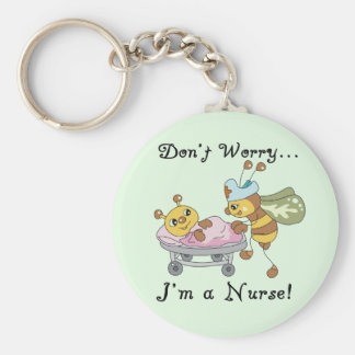 Don't Worry I'm a Nurse Tshirts and Gifts Key Chains