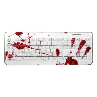 Don't worry, it's not my blood wireless keyboard