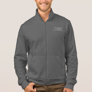 Don't Worry Jogger Jacket w/Black Outline Cross