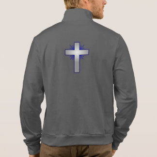 Don't Worry Jogger Jacket w/Blue Flared Cross