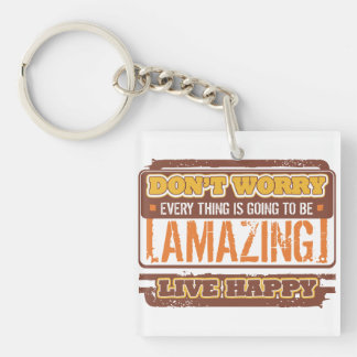 Don't Worry Live Happy Keychain