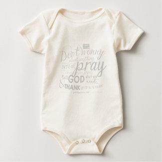 Don't Worry Pray Bible Verse Christian Inspiration Baby Bodysuit