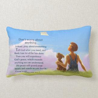 Don't Worry Throw Pillows