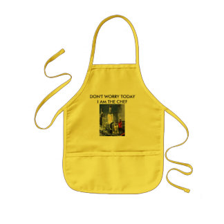 Don't Worry, Today I'm The Chef ! Kids' Apron