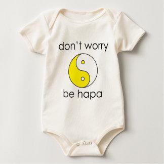 dont worry yin yang baby bodysuit