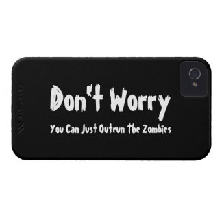 Don't Worry, You Can Just Outrun The Zombies. iPhone 4 Case