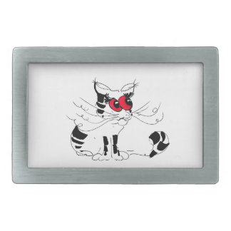 Don't you anger the cat rectangular belt buckle