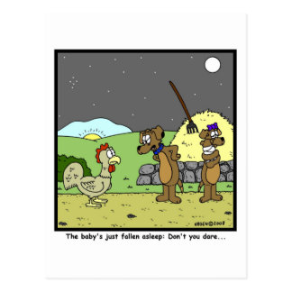 Don't you dare: Rooster Cartoon Post Cards