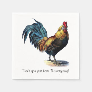 Don't You Just Love Thanksgiving! Paper Napkin