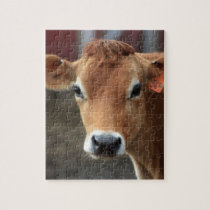 Don't you think I'm Pretty Jersey Cow Jigsaw Puzzle