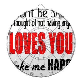 dontbesad happy notloving lonely worst valentine f dartboard