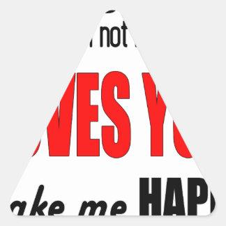 dontbesad happy notloving lonely worst valentine f triangle sticker