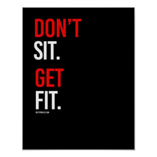 Don'tSit Get Fit -   Guy Fitness -.png Poster