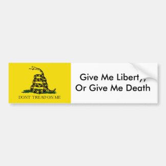 DontTreadONMe, me da libertad, o me da muerte Etiqueta De Parachoque